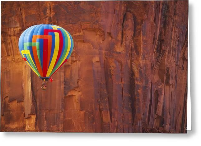 Southern Utah Greeting Cards - Hot Air Sandstone  Greeting Card by Peter Coskun