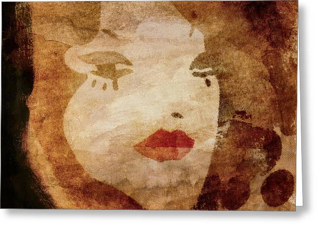 Female Faces Greeting Cards - Hot and Cold Greeting Card by Carol Leigh