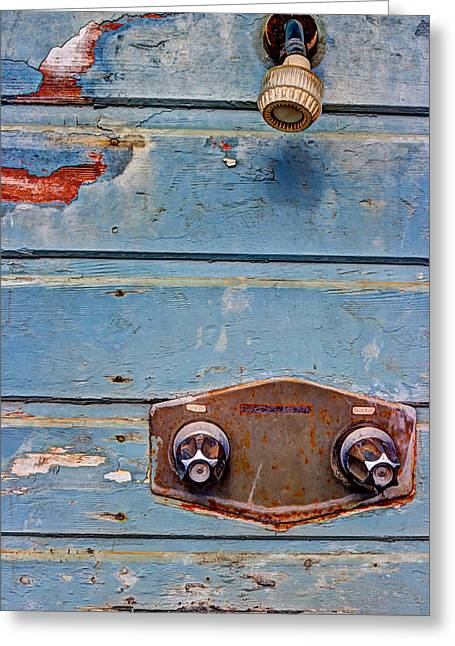 Shower Head Photographs Greeting Cards - Hot And Cold Greeting Card by Heidi Smith