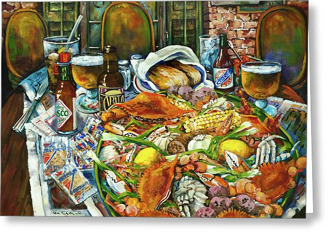 French Quarter Greeting Cards - Hot Boiled Crabs Greeting Card by Dianne Parks