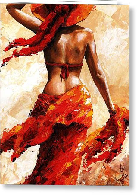 Bikini Greeting Cards - Hot breeze #02 Greeting Card by Emerico Imre Toth