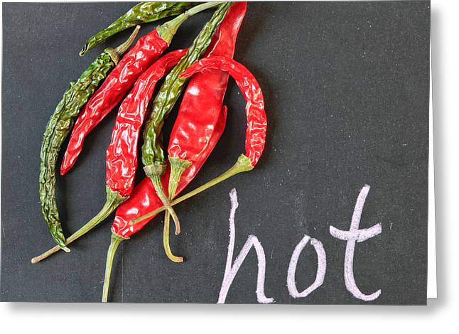 Hot Chili Greeting Card by Tom Gowanlock
