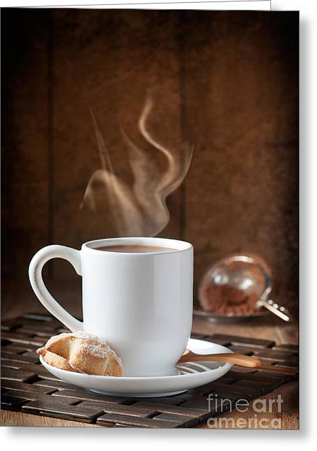 Steaming Greeting Cards - Hot Chocolate Drink Greeting Card by Amanda And Christopher Elwell