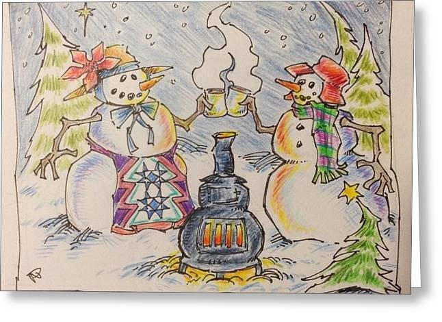 Jeff Mixed Media Greeting Cards - Hot Chocolate Greeting Card by Jeff Prechtel