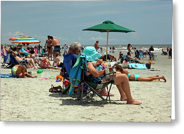 Vacation Digital Art Greeting Cards - Hot Day at the Beach II Greeting Card by Suzanne Gaff