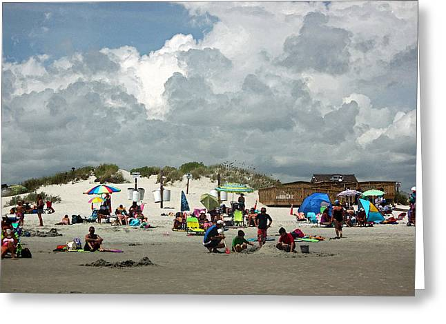Sand Dunes Digital Greeting Cards - Hot Day at the Beach IV Greeting Card by Suzanne Gaff