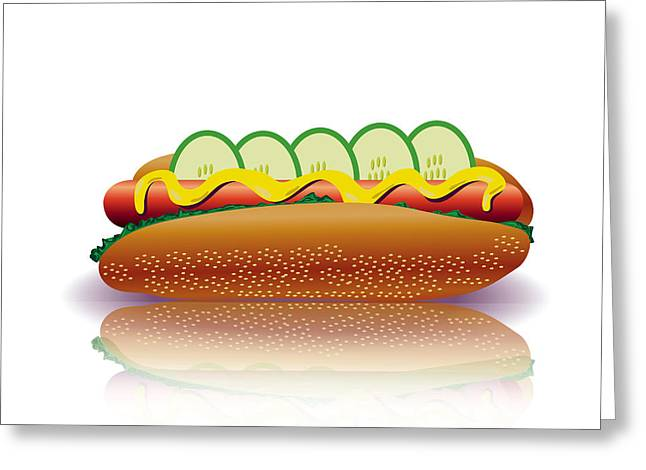 Ketchup Digital Greeting Cards - Hot Dog Greeting Card by Valerii Stoika
