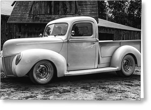 White Truck Greeting Cards - Hot Farm Truck Greeting Card by Thomas Young