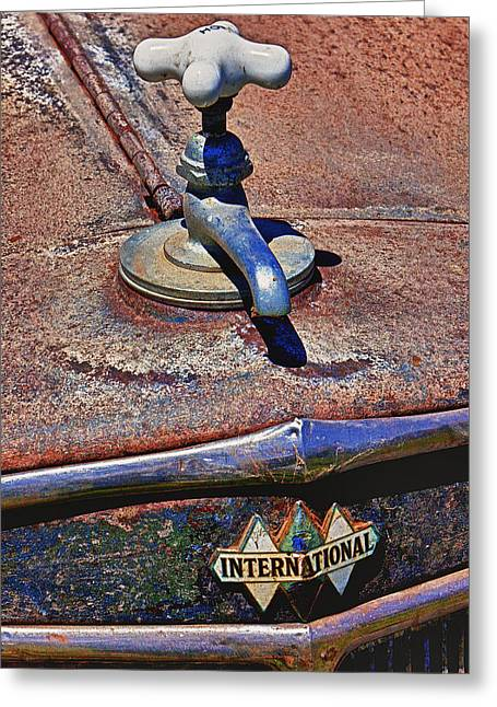 Faucet Greeting Cards - Hot faucet hood ornament Greeting Card by Garry Gay