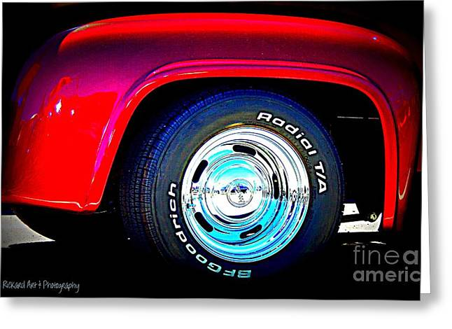 Print On Acrylic Greeting Cards - Hot Fenders Greeting Card by Bobbee Rickard