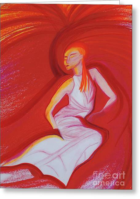 Medical Pastels Greeting Cards - Hot Flash by jrr Greeting Card by First Star Art