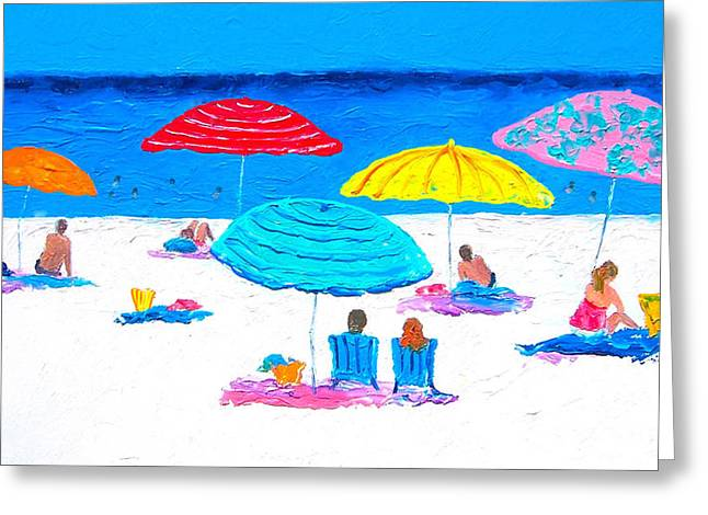 Beach Cottage Style Greeting Cards - Hot Lazy Day -  Beach Painting Greeting Card by Jan Matson