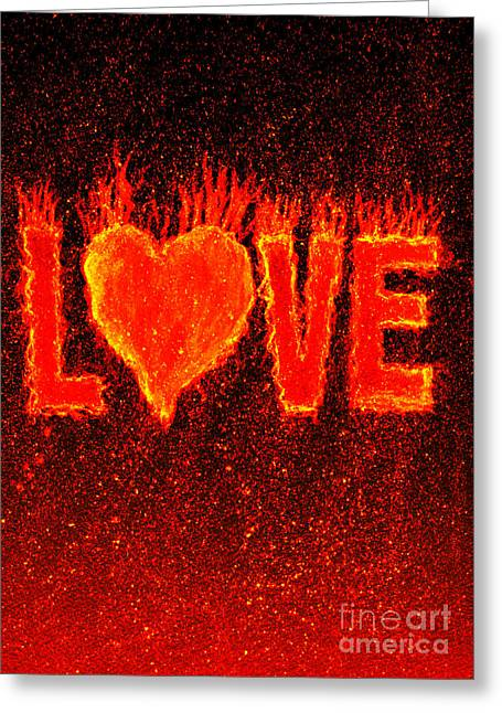Special Occasion Greeting Cards - Hot Love  Greeting Card by Bill Holkham