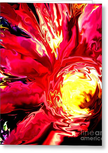 Technical Greeting Cards - Flaming Mum Greeting Card by Gardening Perfection