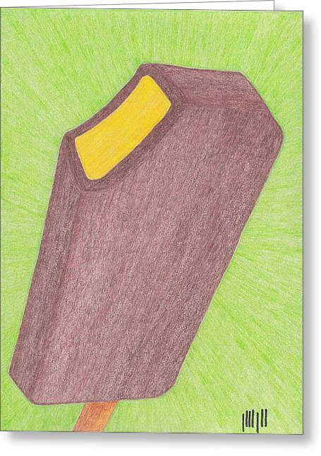 Tangy Drawings Greeting Cards - Hot Mustard Fudgsicle Greeting Card by Eric Forster