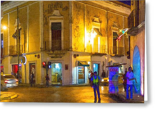 Police Officer Greeting Cards - Hot Nights in the Yucatan Greeting Card by Mark Tisdale