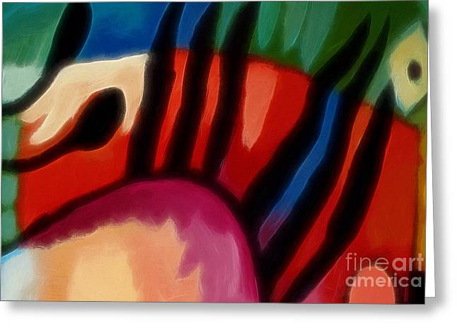 Abstract Expressions Greeting Cards - Hot Nights Greeting Card by Lutz Baar