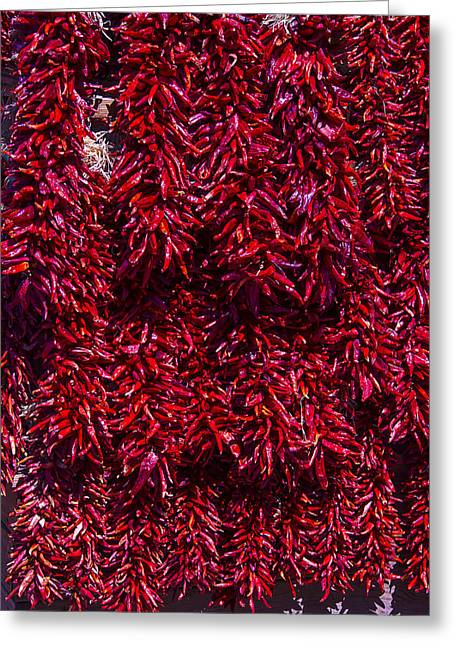 Santa Fe Greeting Cards - Hot Peppers Greeting Card by Garry Gay