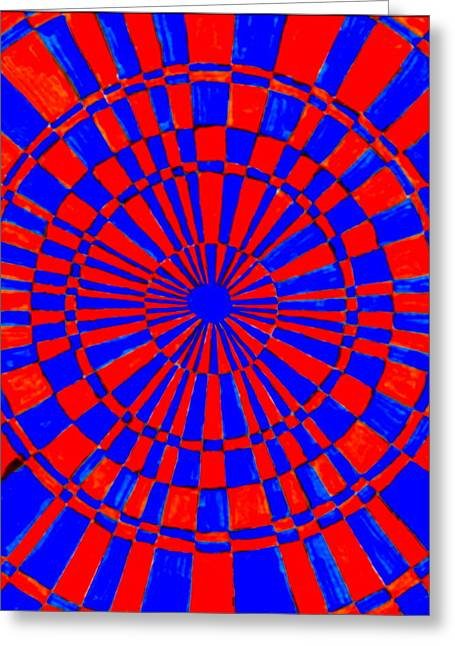 Hallucination Greeting Cards - Hot Pink And Blue Greeting Card by Dale Jackson