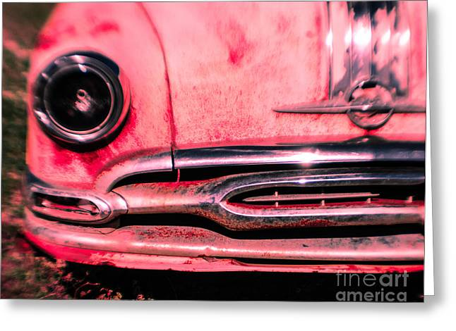 Hot Pink Wreck Greeting Card by Sonja Quintero