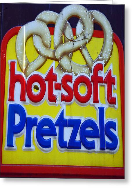 Carnival Spirit Greeting Cards - Hot Pretzels Greeting Card by Skip Willits