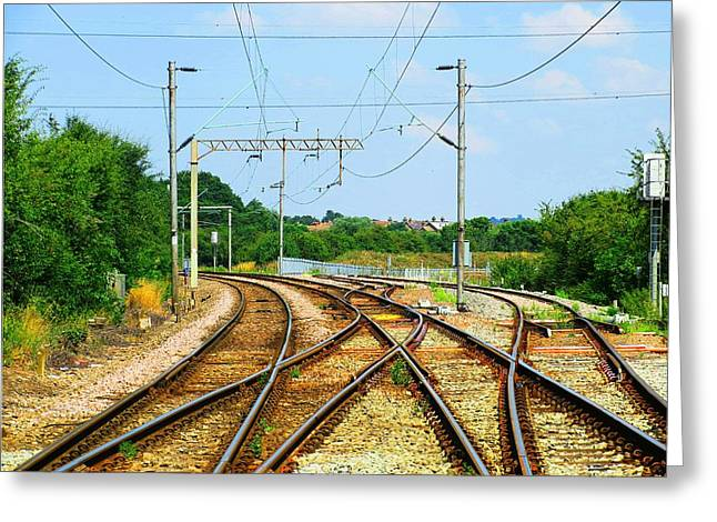 Railroad Greeting Cards - Hot Rails Greeting Card by Johnny Wills