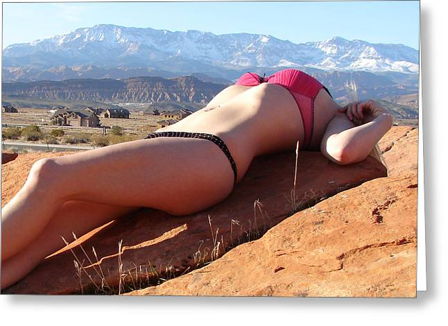 Posters Of Nudes Photographs Greeting Cards - Hot Rocks Greeting Card by El RioWares