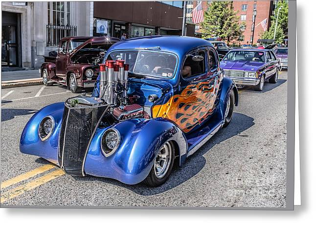 Lowrider Greeting Cards - Hot Rod Car Greeting Card by Edward Fielding