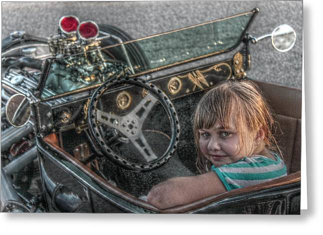 Hdr Look Digital Greeting Cards - Hot Rod Girl Greeting Card by Howard Markel