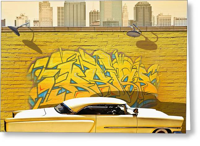 Larry Butterworth Greeting Cards - Hot Rod Graffiti Greeting Card by Larry Butterworth