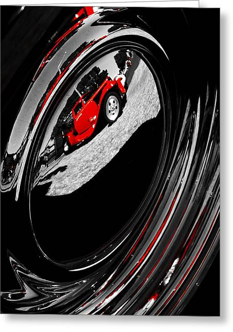 Aotearoa Greeting Cards - Hot Rod Hubcap Greeting Card by motography aka Phil Clark