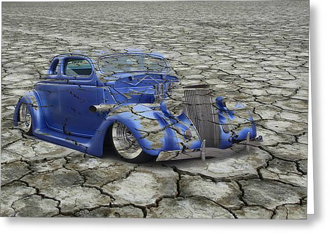 Graffitti Coupe Greeting Cards - Hot Rod Mirage Greeting Card by Steve McKinzie