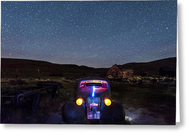 Bodie Greeting Cards - Hot Rod Nights Greeting Card by Cat Connor