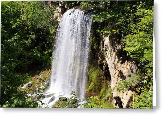Hot Springs Greeting Card by Gail Butler