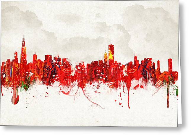 The Church Mixed Media Greeting Cards - Hot summer day in Chicago Greeting Card by Aged Pixel