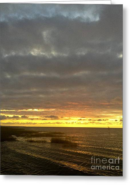 Storm Clouds Cape Cod Greeting Cards - Hot Sun Dropping Greeting Card by Lauren Kunkler