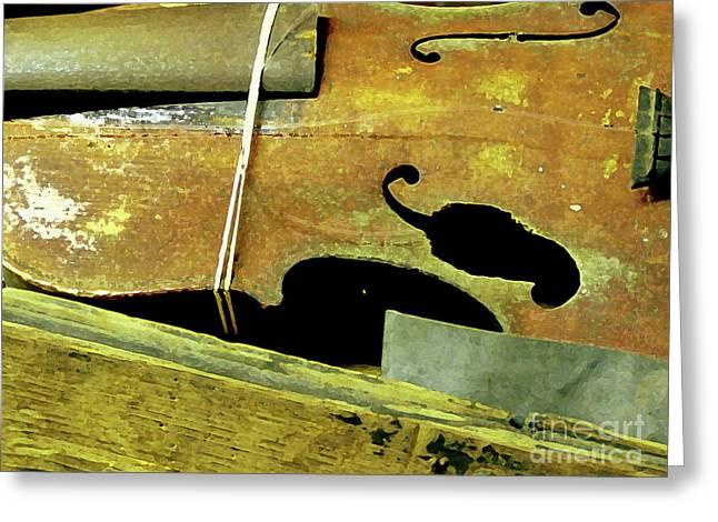 Violin Case Greeting Cards - Hot Texas Chili Fiddle Greeting Card by Joe Jake Pratt