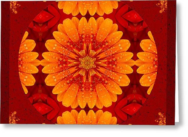 Macro Mixed Media Greeting Cards - Hot Tropical Zen Greeting Card by Georgiana Romanovna
