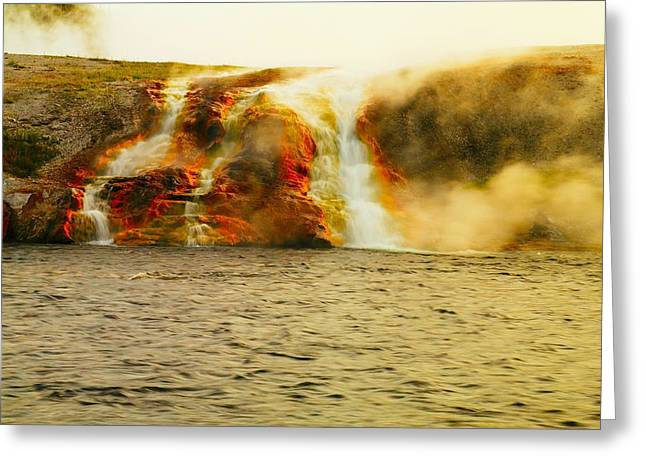 Hot Water Pouring Greeting Card by Jeff Swan