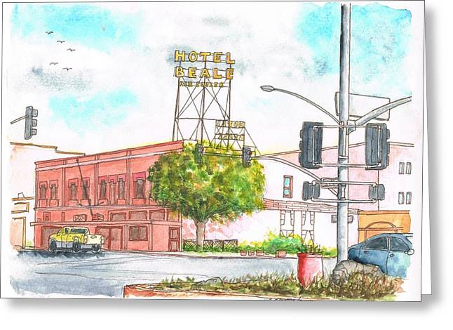 Devine Greeting Cards - Hotel Beale in Route 66 Andy Devine Ave - Kingman - Arizona Greeting Card by Carlos G Groppa