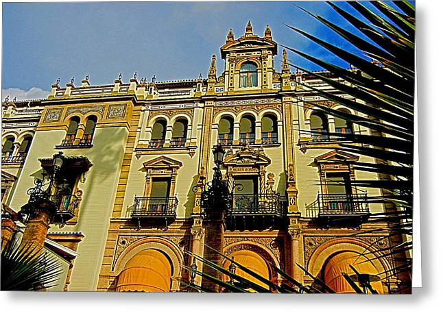 Attraktion Greeting Cards - Hotel Alfonso XIII - Seville Greeting Card by Juergen Weiss