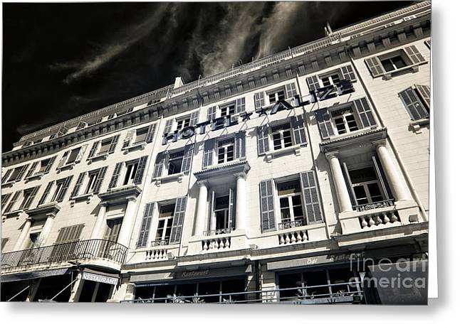 Azur Greeting Cards - Hotel Alize Marseille Greeting Card by John Rizzuto