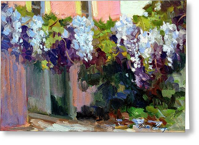 Kasbah Greeting Cards - Hotel Baudy Wisteria Greeting Card by Diane McClary