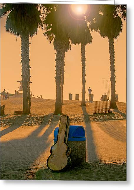 Beach Landscape Greeting Cards - Hotel California Greeting Card by Peter Tellone