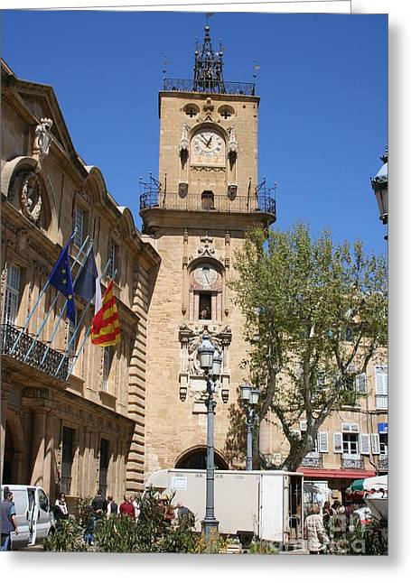 Provence Village Greeting Cards - Hotel de Ville - Aix en Provence Greeting Card by Christiane Schulze Art And Photography