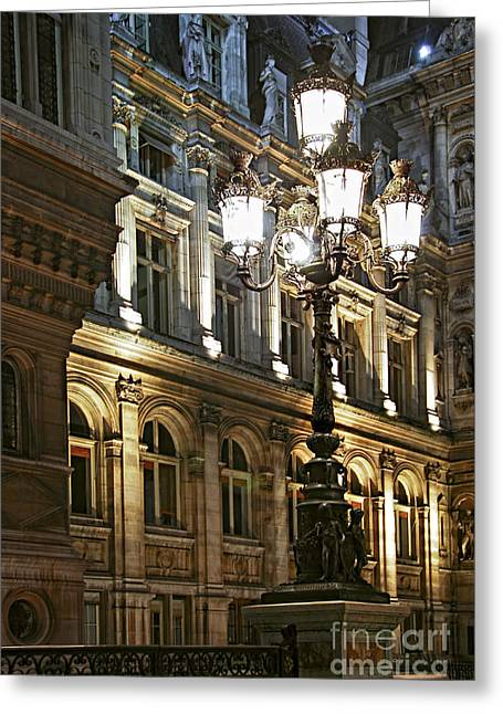 Iron Greeting Cards - Hotel de Ville in Paris Greeting Card by Elena Elisseeva