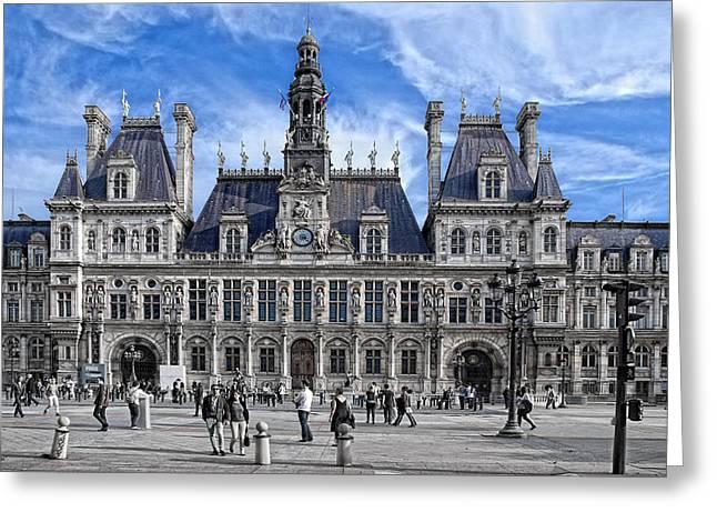 Hotel De Ville Greeting Card by Joachim G Pinkawa