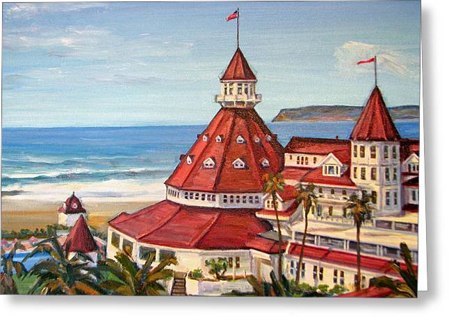 Hotel Del Coronado From Above Greeting Card by Robert Gerdes