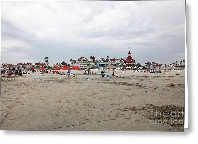 Coronado Island Greeting Cards - Hotel Del Coronado In Coronado California 5D24288 Greeting Card by Wingsdomain Art and Photography