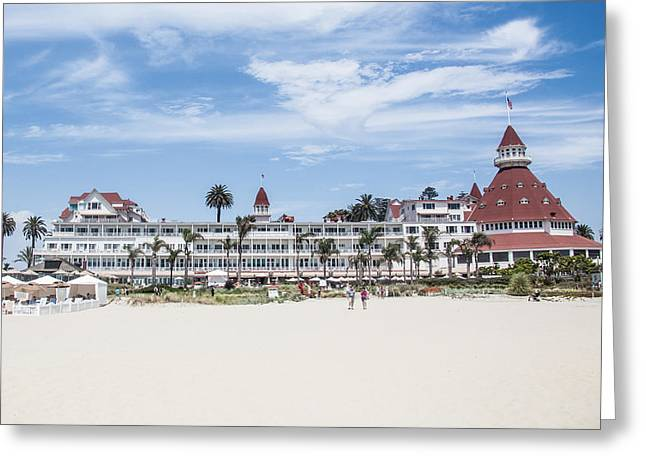 Coronado Island Greeting Cards - Hotel Del Coronado Greeting Card by Ralf Kaiser